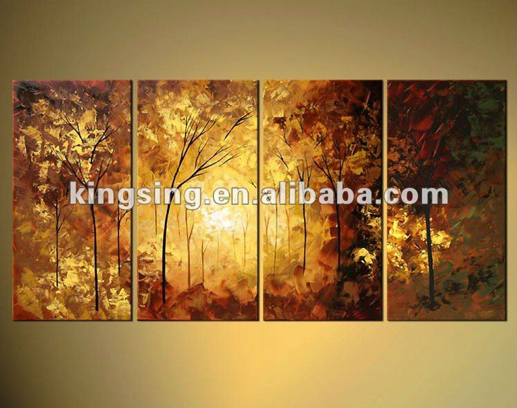 oil painting bush on canvas