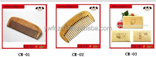 High quality delicate wooden mustache comb