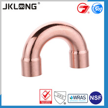 copper elbow pipe fitting, 180 degree elbow, u bend