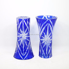 Japanese Crafts <strong>Sakura</strong> Cut Blue Glass Flower Vase Wholesale
