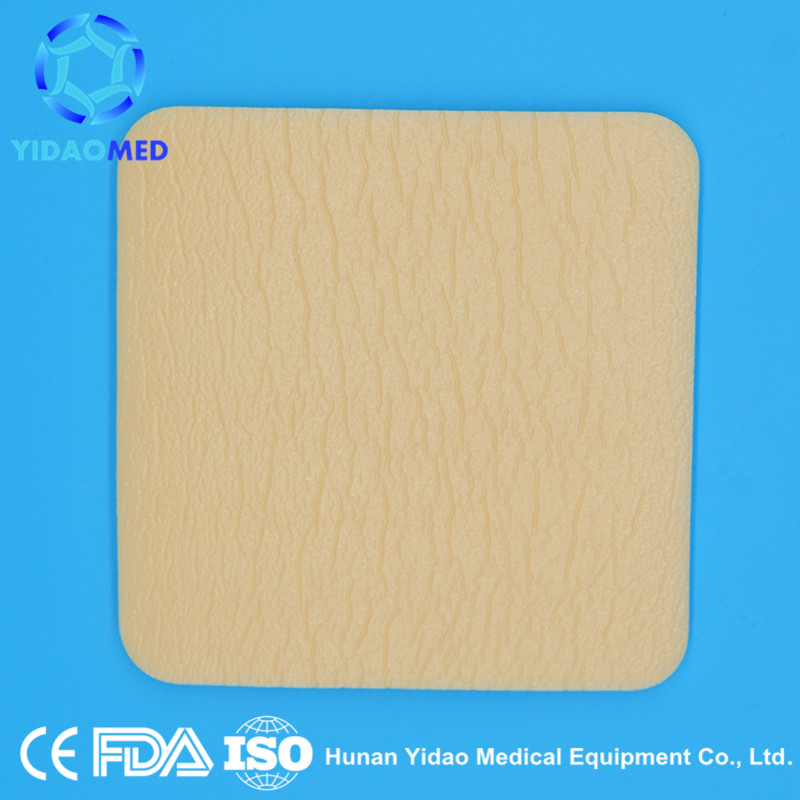 Advanced Adhesive Silicone Gel Foam Dressing for Scar Tissue, Sterile and Super Absorbent for Wound Care 10cmx10cm