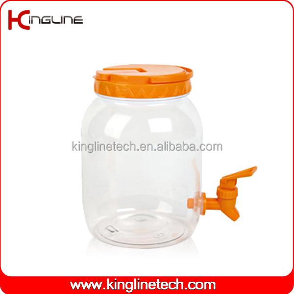 No leaking Pet (5 gallon )/2500ml clear plastic measuring jug with spigot (KL-8008)