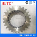 High strength CNC machined hardening/hardened surface spur steel gear