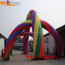 Factory price custom outdoor inflatable rainbow rectangle arch