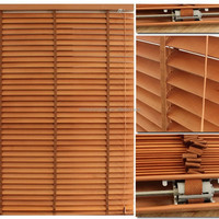 Interior decoration 50mm real basswood wood venetian blind