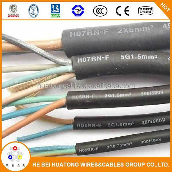 China supplier heavy duty electric wire and cable 16mm H07RN-Fwith CE certificate