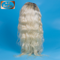 Alibaba aliexpress new updated high quality blonde lace wig 1b/613# lace front wig ponytail lace front wig