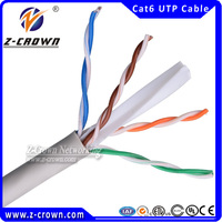 Twisted CAT 5e LAN Cable/3AWG 305m/1000ft per unit 0.56/0.58mm ftp cat6 lan cable/ROHS/CMP Bare copper outdoor cat5e lan cable