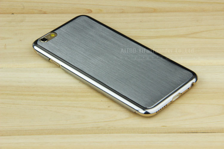 Stainless steel for iphone 6 case,brushed alu back case for iPhone 5