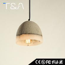 Customized concrete ceiling pendant hanging light /cement lamp shade