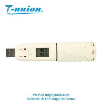 Portable Humidity and Temperature Data Logger With 32K Memory, Handheld Humidity and Temperature Meter With USB Connection