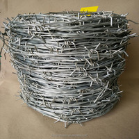 14 16 Galvanized Barbed Wire Fencing