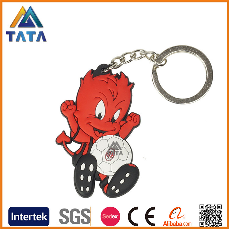 TATA Custom Promotion Emoji shaped 3D rubber soft pvc keychain