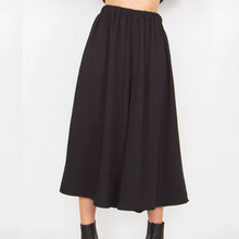 Wholesale Cheap Black Rubber Wide Leg Fashion Women palazzo Pants