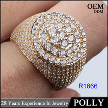 china wholesale 925 silver or 10k gold jewelry stone finger ring designs for men AAA stone