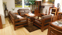 Home Furniture Living Room Solid Wood Sofa