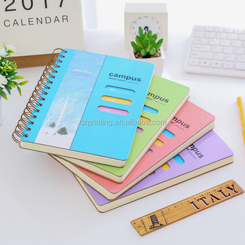 Cheap Wholesale Custom B5 Spiral Campus Notebook With Color Pages Stationery Notepads