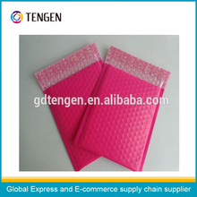 "pink 7.25*8"" poly bubble bag"