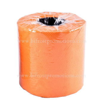 Orange Colored Toilet Paper