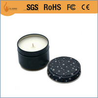 wholesale any colors black cheap aluminum candle tin jars containers