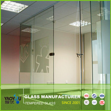 China Glass Factory 6mm Thick Clear Tempered Glass For Indoor
