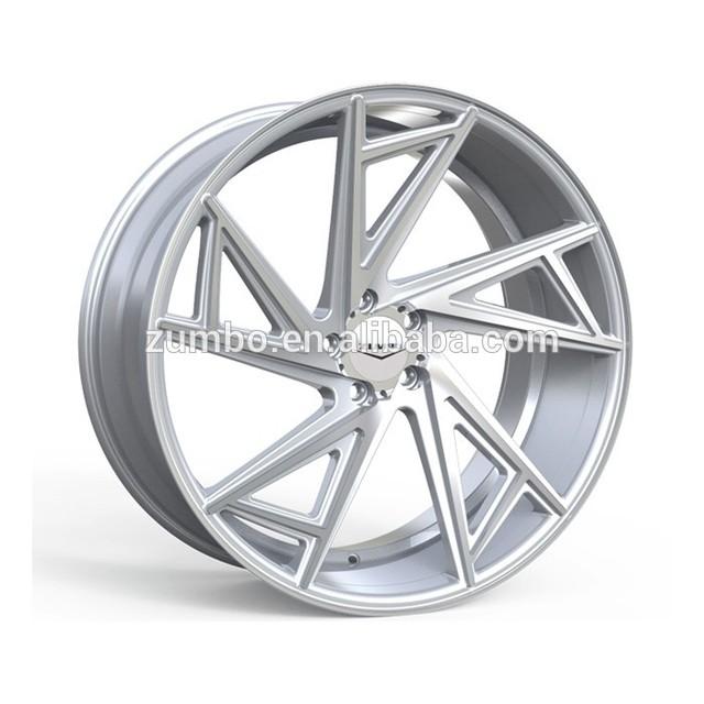 ZUMBO-A0086 Black Machined Face Car Rims Alloy Wheel