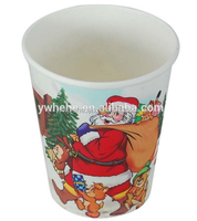 9oz Single Wall Paper Cup For Christmas Festival