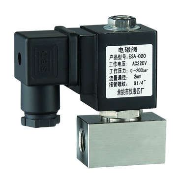 YSE-020 High pressure solenoid valve 1/4' or 3/8' <strong>0</strong>-180bar max
