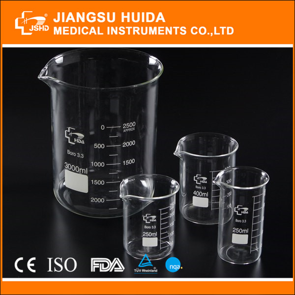 Factory Direct HDA Laboratory glass beakers 600ml