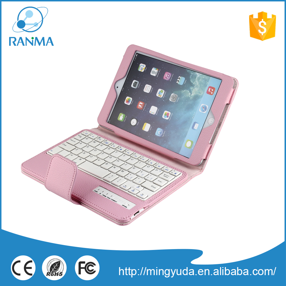 7.9 inch portable wireless removable keyboard case for ipad mini 2