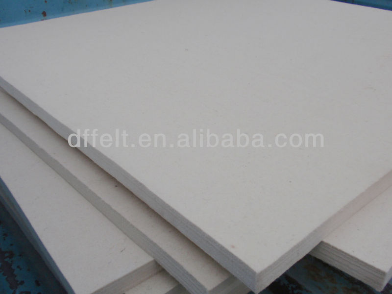 white Industry wool felt in sheets