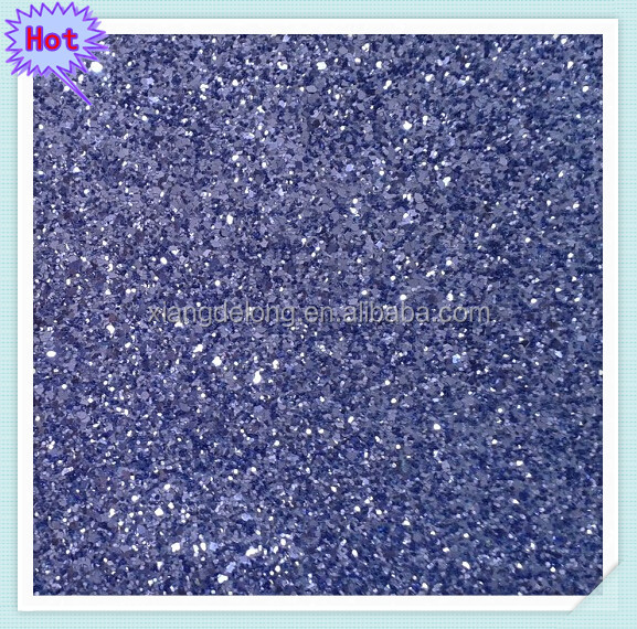 2014 Hot sell europe purple glitter fabric