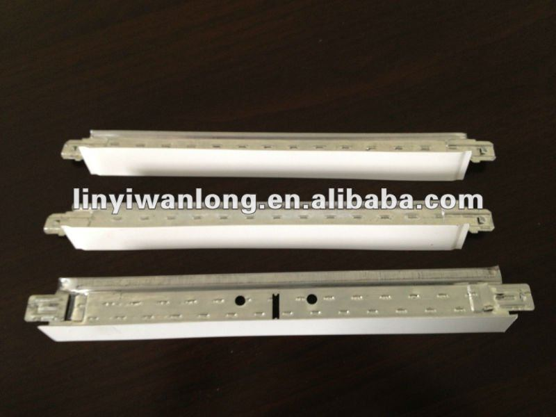 suspended ceiling tee grid/dimension of barred tee for gypsum board ceiling system