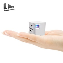 Factory Price Smallest Projector 80 Lumens 32G Tempering Glass Touch Key Aluminum Touch Pico Projector for Gift