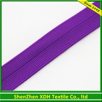 Eco-friendly purple nylon fold over strong elastic straps with high quality