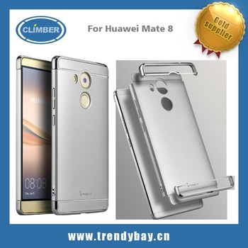 Plated hybrid PC 3in1 frosted back cover for huawei mate 8 original iPaky case