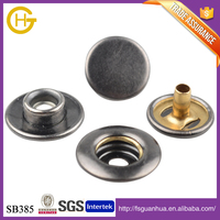 High quality 12mm brass shank leather snap button