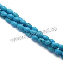 Natural blue turquoise Sinkiang beads rough stones for jewelry making