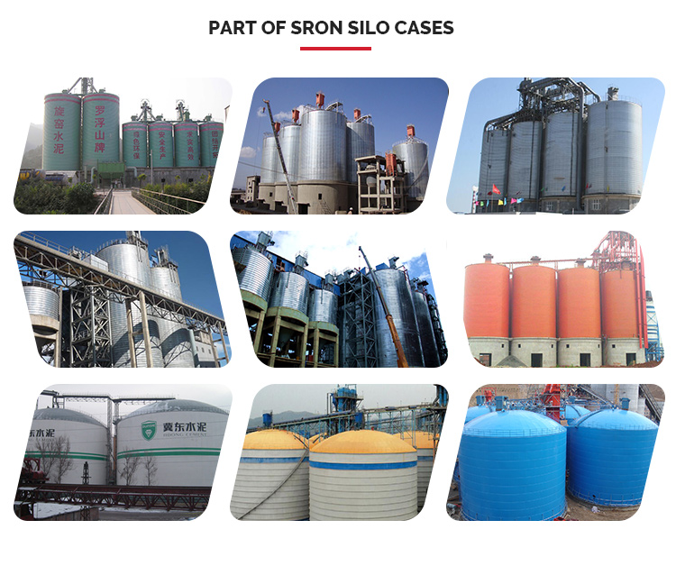 1000T 2000T Spiral Silo For Store Fly Ash Cement with Steel Supporting Frame For Sale