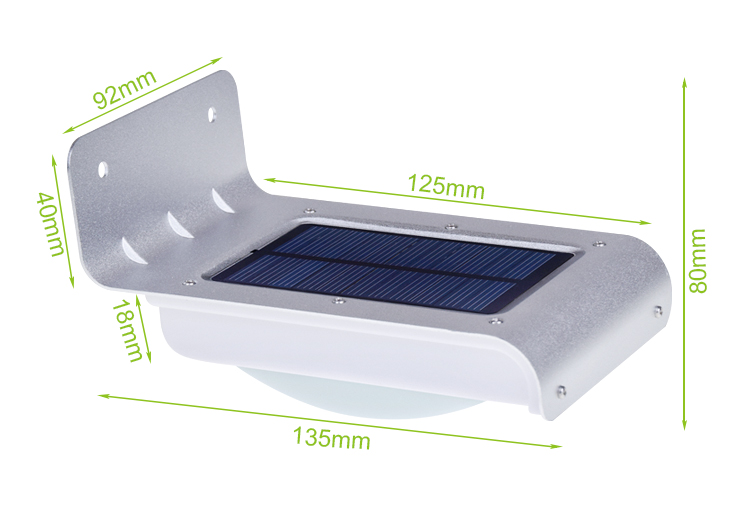 SL-10P2 Solar Powered Outdoor voice control Security Light 16 LED 800 Mah battery CE,rosh passed
