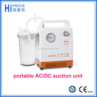 portable emergency AC/DC suction unit with battery