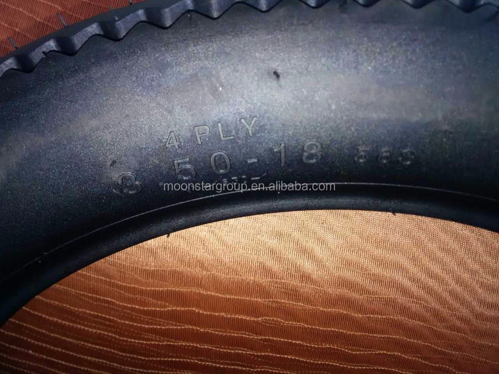 Sawtooth motorcycle tyre and tube 3.50-18