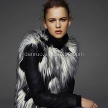 Wholesale Europe and the United States big new autumn and winter color long fur fur vest imitation fox fur long coat