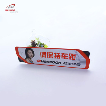 Wholesale high quality colorful printing PVC plastic table promotion card for Commercial advertising