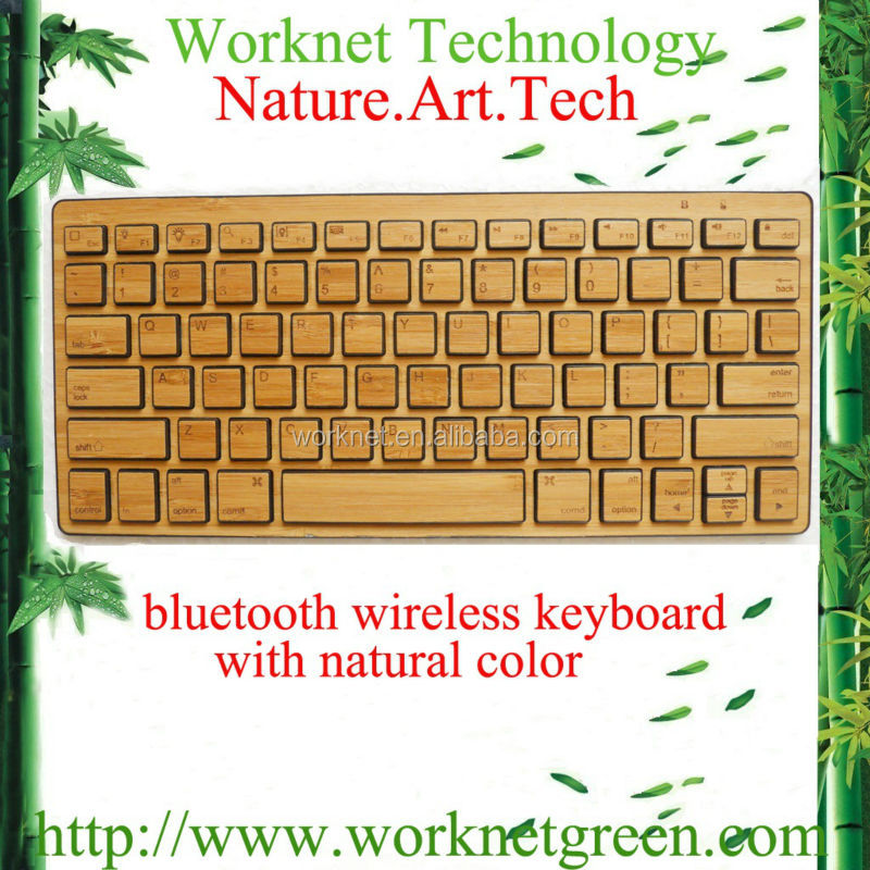 for iphone 5c bamboo bluetooth keyboard in natural color