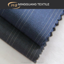 Summer fancy mens blue white stripe viscose suit fabric in 2014