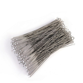 Wholesale Durable Cleaner brush Stainless steel wire nylon drinking straw cleaning brush