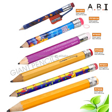promotion funny wood jumbo giant pencil with sharpener