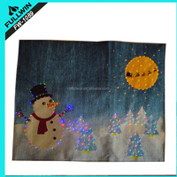 Fashion led light up christmas tapestry