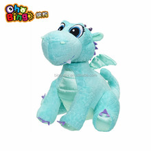 High quality Promotional green Dinosaur plush toy with customized embroidered Logo
